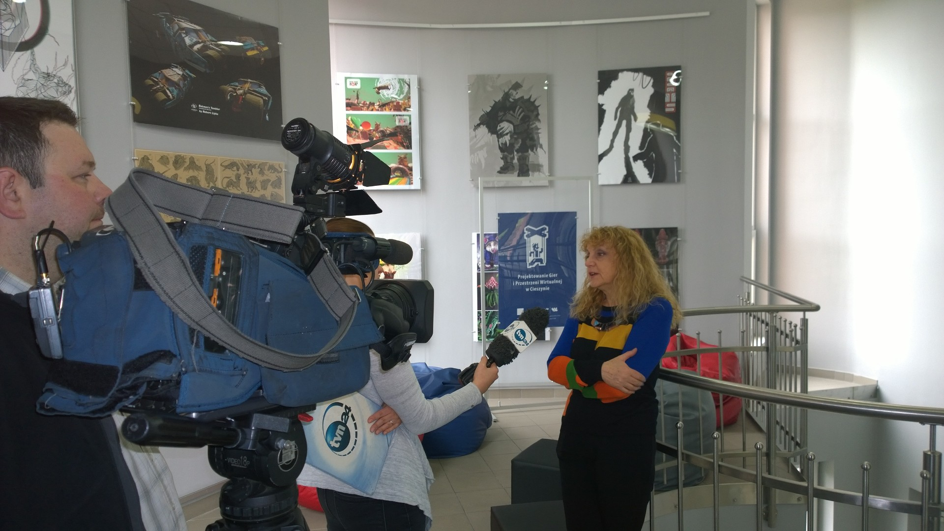 TVN24 visiting our faculty