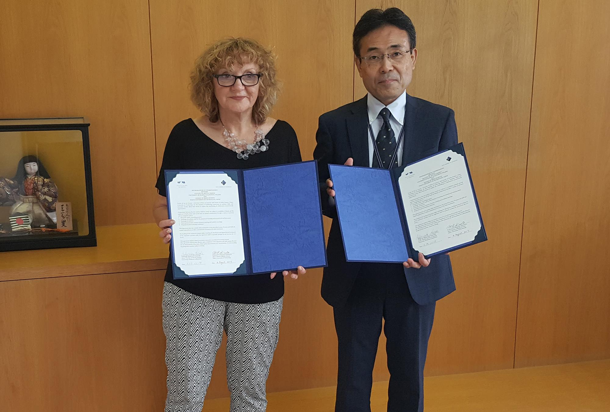 Signing the memorandum of understanding with Tokyo University of Technology / 4 August 2017
